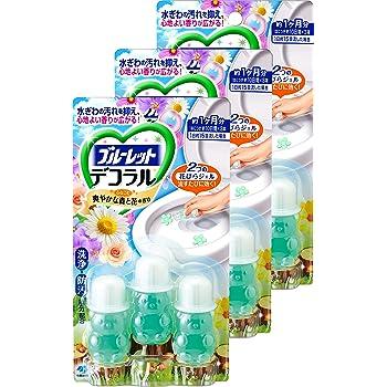 【まとめ買い】ブルーレットデコラル トイレ便器の内側 香りと汚れ着付防止の花びらジェル 爽やかな森と花の香り 約30日分×3個