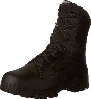 حذاء رجالي برقبة طويلة وسحاب جانبي 8 انش، مصنوع من النايلون والجلد من بيتس