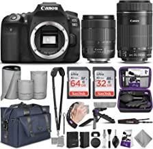 $1598 » Canon EOS 90D DSLR Camera and Canon EF-S 18-135mm f/3.5-5.6 is USM + EF-S 55-250mm f/4-5.6 is STM Lens with Altura Photo Complete Accessory and Travel Bundle