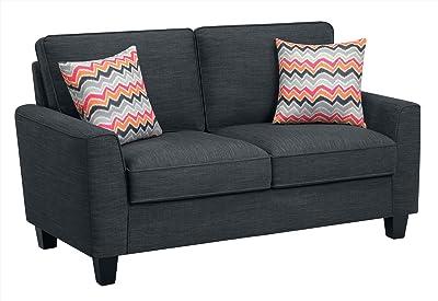 Amazon.com: Forsan nuvella Contemporáneo Color Gris tela ...