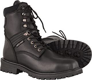 Milwaukee Leather Men's Waterproof Leather Boots with Lace to Toe Design (Black, Size 10.5W/7