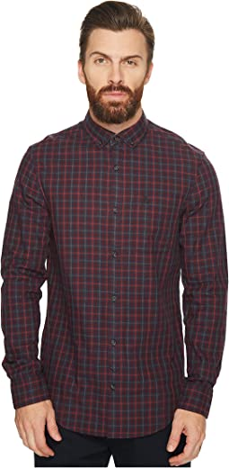 Original Penguin - Long Sleeve Brushed Flannel Gingham Shirt