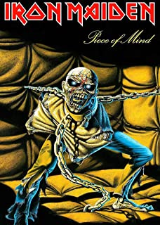 Iron Maiden Textile Flag Piece Of Mind Logo Official Black Poster 65Cm X 105Cm