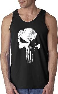 New Way 687 - Men's Tank-Top New Daredevil Punisher Skull Logo