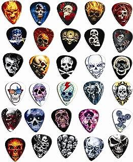 30 Skull Loose Premium Guitar Picks Medium Gauge 0.71mm