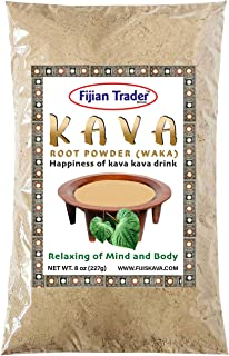 Fijian Trader - Noble KAVA Root Powder WAKA (1/2 Lb) Natural Stress and Anxiety Relief - Promotes Body Relaxation | Kava (...