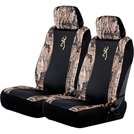 Browning Chevron Low Back Seat Cover Black//Realtree Timber Single