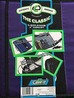 "Case It Purple 2"" 3-Ring Zip Up Binder"