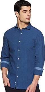 Celio Mens Slim Collar Stripe Shirt