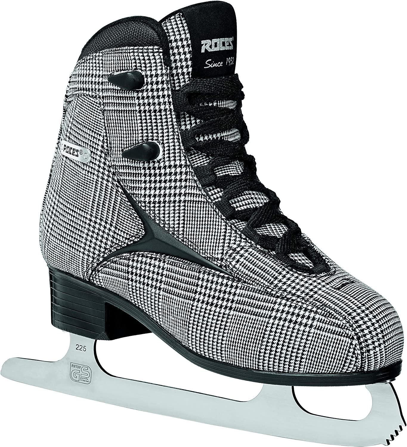 Roces BRITS Safety and trust Popular shop is the lowest price challenge Women's Ice Skates Silver - White Check Black