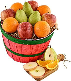 20-Piece Premium Fruit and Bountiful Basket with Orchard Fresh Fruits - 3 pears, 4 apples, 9 oranges, and 4...