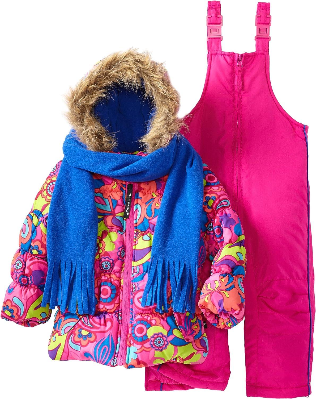 Rothschild Little Girls' Print Bubble Snowsuit