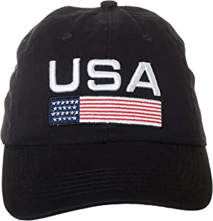 Artisan Owl USA Flag American Patriotic Pride Hat - 100% Cotton Embroidered Cap
