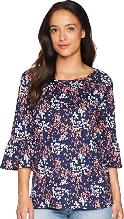 Scatter Blooms Cotton Peasant Top