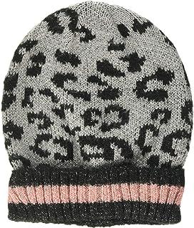 Dorothy Perkins Leopard Lurex Hat. Gorro, Gris (Light Grey 619), Talla Única (Talla del Fabricante: One) para Mujer