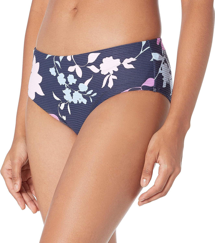 Seafolly Women's Banded Wide Side Retro Bikini Bottom Swimsuit