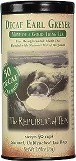 The Republic of Tea, Earl Greyer Decaf Tea, 50 Count