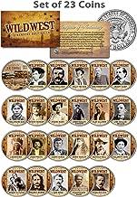 WILD WEST/OLD WEST OUTLAWS Complete Set of 23 U.S. JFK Half Dollar Coins