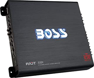 $59 » BOSS Audio Systems R3004 4 Channel Car Amplifier - 1200 Watts, 2/4 Ohm Stable, Class A/B, Full Range, Bridgeable, MOSFET P...