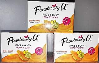 Extract Papaya Calamansi Skin Whitening Herbal Soap Pack of 3 (90gX3)