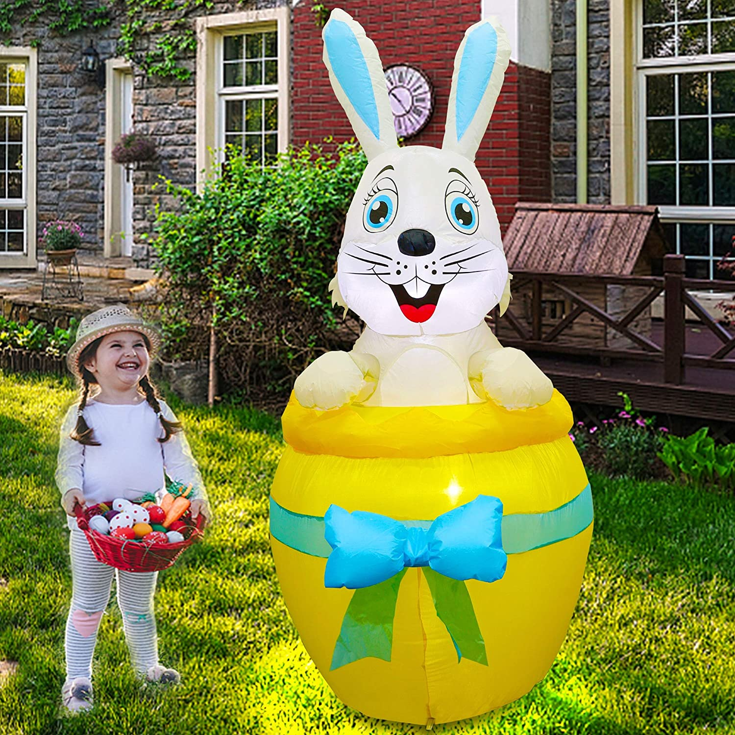 Twinkle Max 84% OFF Star 6 FT Inflatable B Decoration Topics on TV Easter Lighted