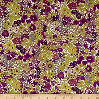 Liberty Fabrics 0548435 Tana Lawn Margaret Annie Purple Fabric by The Yard,