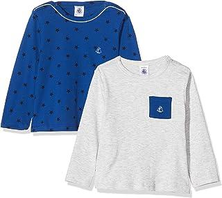 Petit Bateau Camisa Manga Larga (Pack de 2) para Bebés