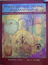 Psychological Testing and Assessment By Cohen and Swerdlik 6th Sixth Edition HardcoverTextbook