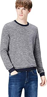 find. Men's Cotton Mix Contrast Crew Neck Jumper