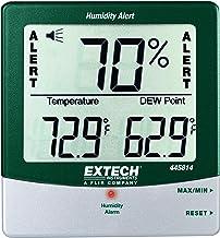 Extech 445814 Higrotermómetro psicrómetro estacionario con alarma de humedad audible