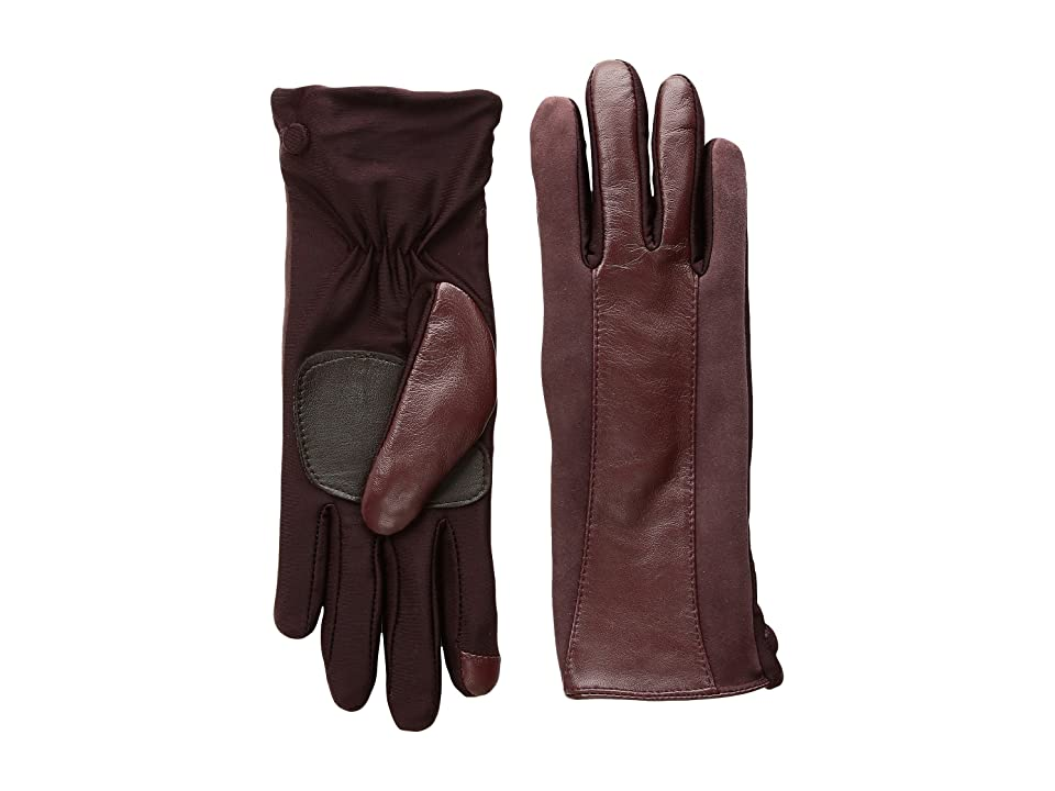 Echo Design Leather Stripe Superfit Gloves (Port) Dress Gloves