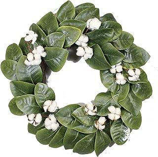 Magnolia & Cotton Wreath - 22
