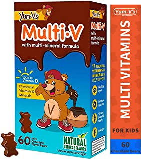 Yum-V MultiVitamins Chewables for Kids, Milk Chocolate (60 Ct); Daily Dietary Supplement w/Essential Vitamins & Minerals –...