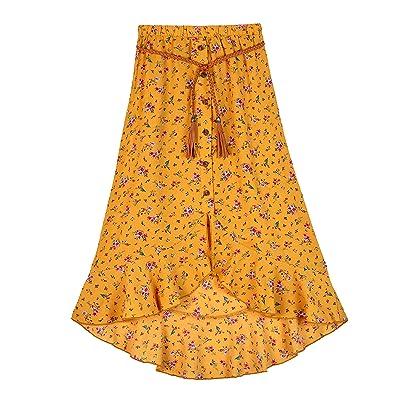 Amy Byer Ruffle Front Maxi Skirt