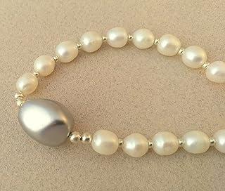 collar de perlas cultivadas y perla pacifico