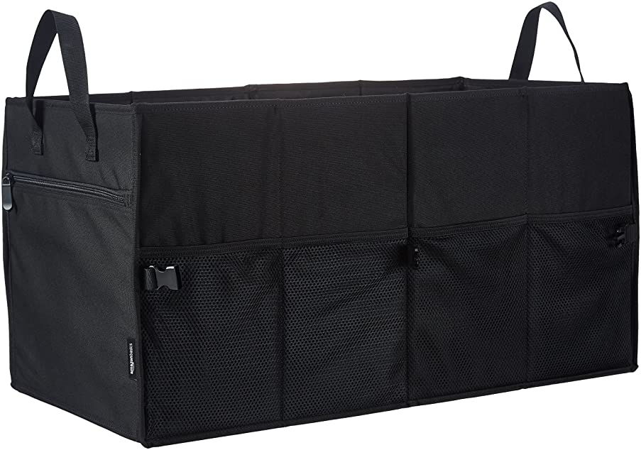 AmazonBasics Foldable/Collapsible Trunk Organizer for Car, SUV, Truck and Van - 9 pockets - Black