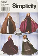 Simplicity Women's Cape Cosplay and Costume Sewing Patterns, Sizes XS-L