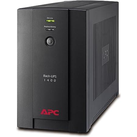 APC Back-UPS BX - BX1400U-FR - Onduleur 1400VA (AVR, 4 Prises FR, USB, Logiciel d'arrêt)