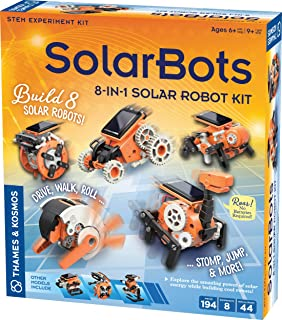 Thames & Kosmos SolarBots: 8-in-1 Solar Robot STEM Experiment Kit | Build 8 Cool Solar-Powered Robots in Minutes | No Batt...
