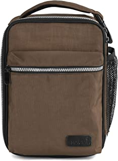 SACHI Explorer Durable Insulated Lunch Tote, Lunchbox with Heavy Duty Zipper, Large Lunch Bag, for Men with Hands Free Buc...