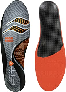 Sof Sole Women's High Arch Unisex FIT Support Insoles, Grey, Women's 7-8/Men's 5-6