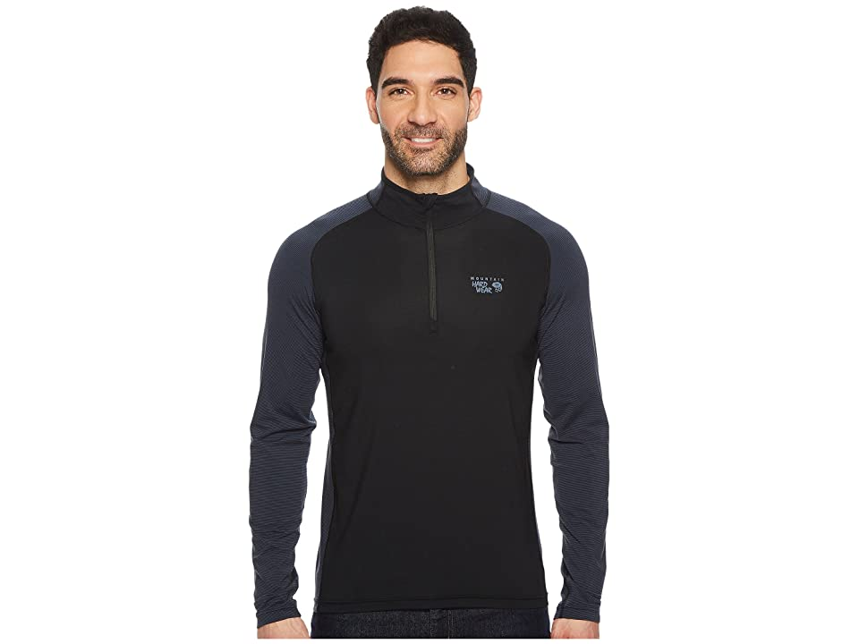 Mountain Hardwear Butterman 1/2 Zip Top (Black/Zinc) Men