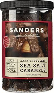 Sanders Dark Chocolate Sea Salt Caramels - 36 ounces (2.25 pounds)