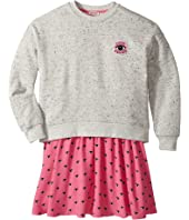 Kenzo Kids - Sweat and Eyes Pink Skirt Dress (Big Kids)