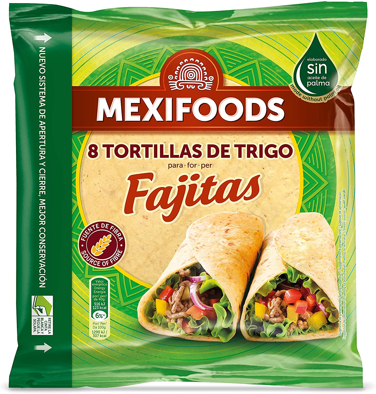 Mexifoods, Pan con harina integral envasado - 320 gr. (6 ...