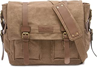Sweetbriar Classic Laptop Messenger Bag, Brown - Canvas Pack Designed to Protect Laptops up to 13 Inches