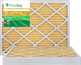 FilterBuy 20x23x1 MERV 11 Pleated AC Furnace Air Filter, (Pack of 4 Filters), 20x23x1 – Gold