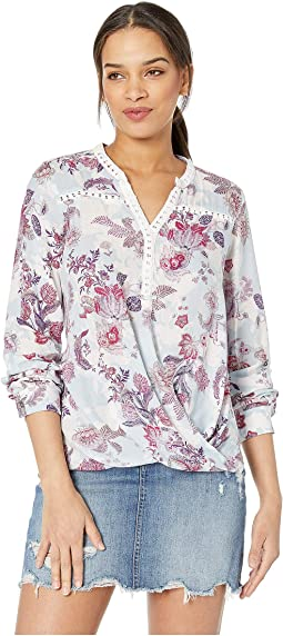 a391f25bf27 Maternal america maternity laced sleeve kimono top lavender ...