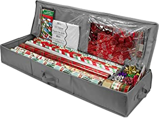 Whitmor Christmas Storage Organizer – Durable 600D Material - Spacious Under Bed Holiday Wrapping Paper Storage Container,...