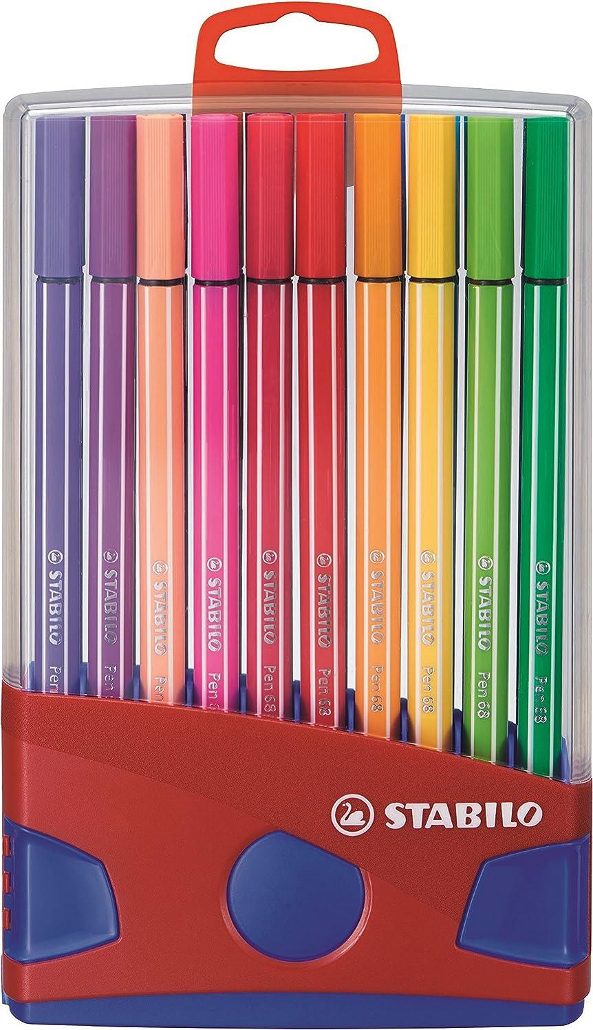 STABILO Pen 68 Fibre-tip Pen, Colorparade Desk Set in 20 Assorted Colours